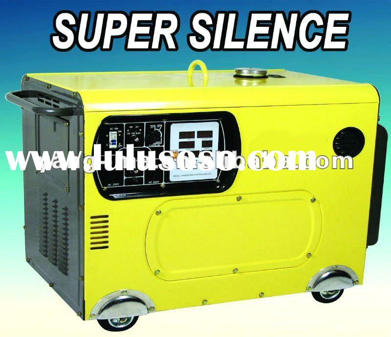 8/9/10/12KW V-twin double cylinder Air cooled engine power electric super silent diesel generator 10