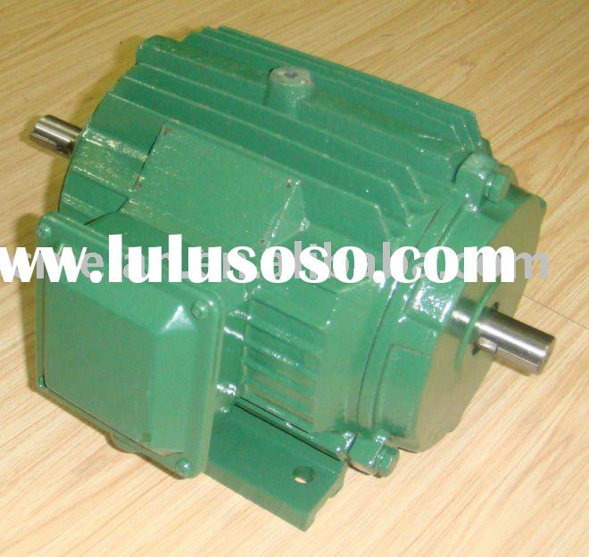 AC induction double shaft electric motor/twin shaft motor/double shaft motor