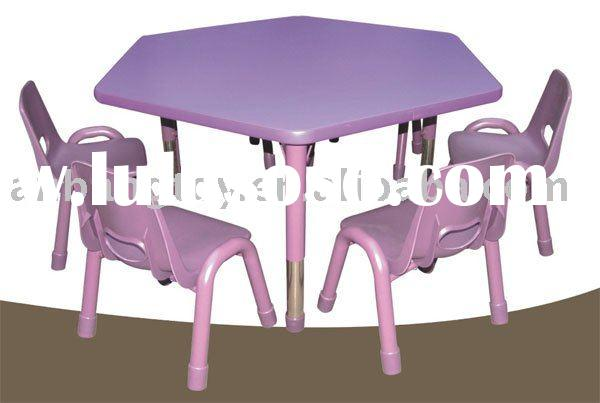 Children's Tables And Chairs ( Hexangular Table )