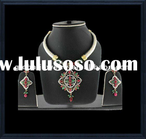 Graceful & charmful pakistani bridal jewelry sets jewelry set chunky india wedding jewelry set