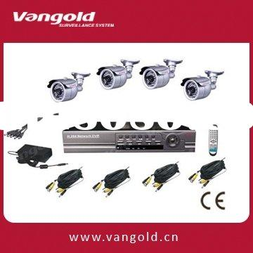 H.264 Compression 4CH Video surveillance system, 4CH DIY Security Camera System VG-H7404LK