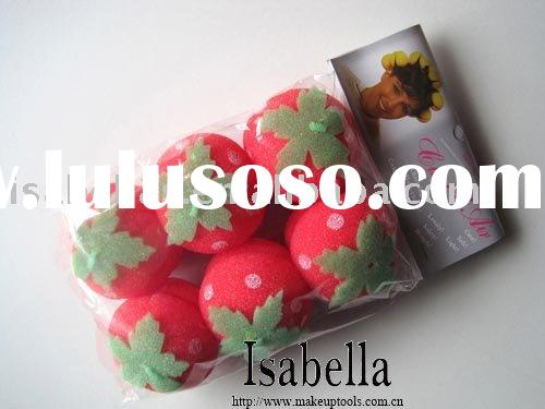 Lovely Strawberry soft sponge Hair Care Rollers Curlers