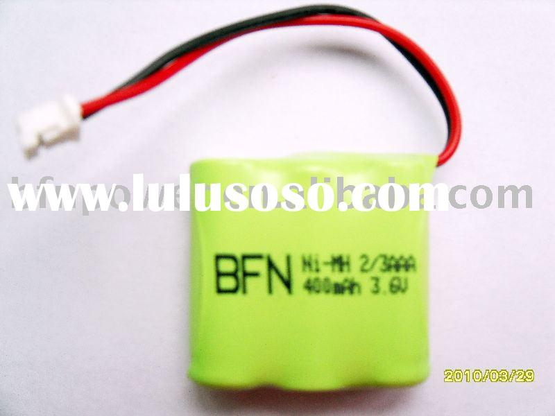 NiMH rechargeable battery pack(2/3AAA 3.6V 400mAh)