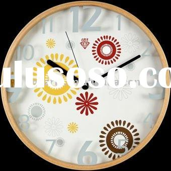 Stereoscopic vogue mute wood wall clock of the vitality summer