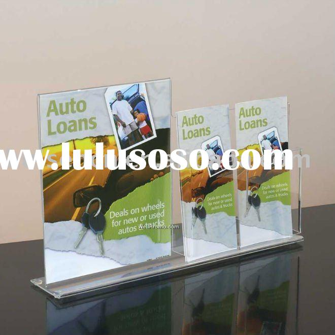 T frame acrylic menu display stand for counter display