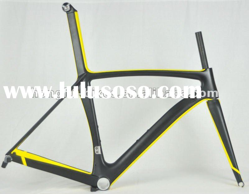 Toray carbon fiber bicycle frame for road bikes,UD/yellow painted FM039-ISP