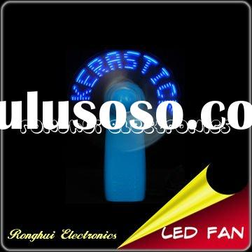 handhold led personal fan with flashing message for business gift