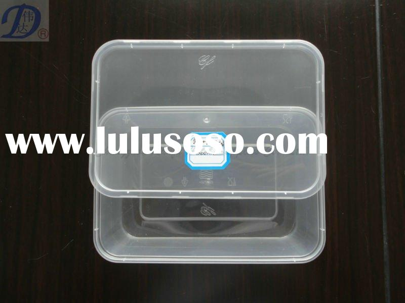 plastic disposable food container/ food warmer container