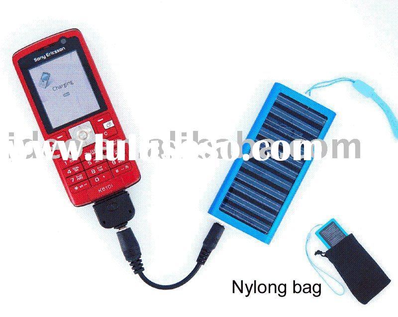 solar panel charger for mobile phone + different colours + LOGO printed