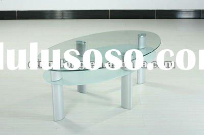 stylish design tempered glass and metal frame coffee table