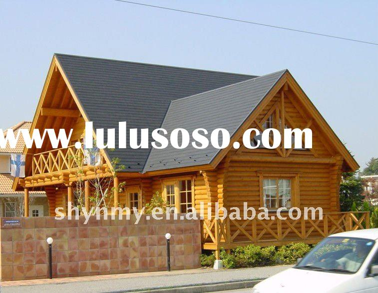 wood house villa/wood luxury villas/hotel/simple prefabricated house wooden house ZM-11