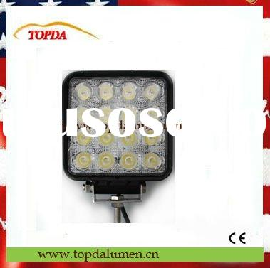 12V&24V Multi.Volt DC 48W LED worklight for tractor, CREE chip inside, IP-67 waterproof and dust