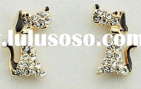2011 Newest 14k Gold Plated Fashion Animal Earrings