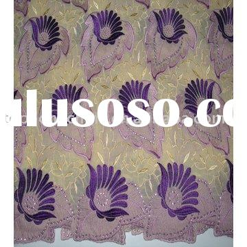 2011 Newest fashion cotton voile african lace fabric