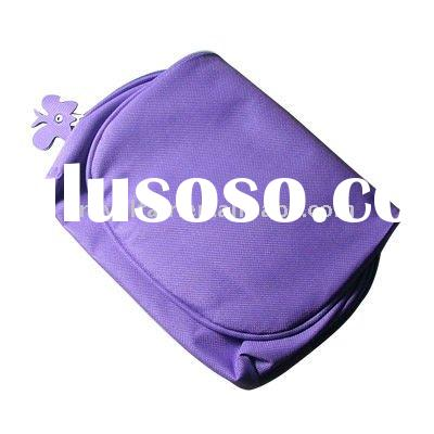 2012 Cute Purple Butterfly Tonish PVC Makeup Bag With Zipper