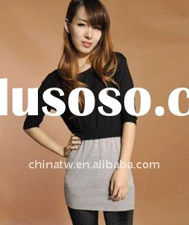 2012 Latest Dress Designs For Ladies Body Fit Knit Dress Pullover dk1651