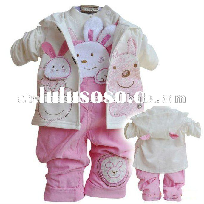 2012 child's fashion clothing sets three pieces