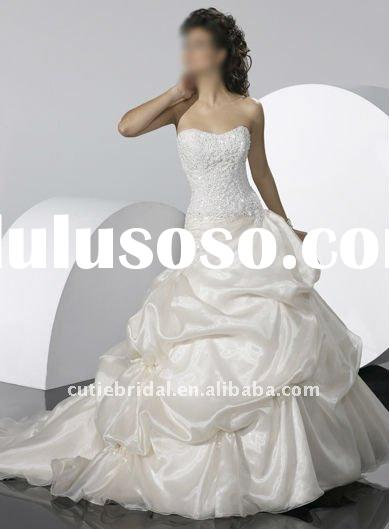 2012 custom made wedding dresses bride ball gowns 2073