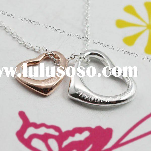 2012 fashion Gold and silver charm necklace jewelry