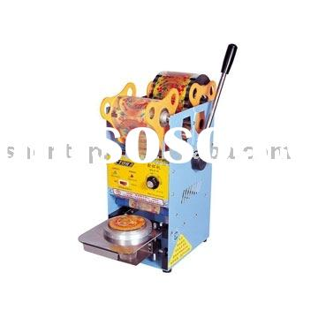 2012 hot sell commercial newest Bubble Tea Manual Cup Sealing Machine/full automatic cup sealer