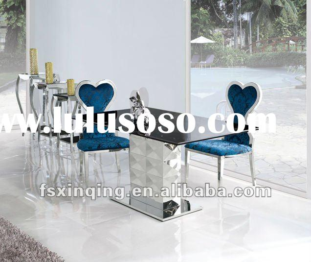 2012 modern dining room furniture set glass dining table and chair TH296