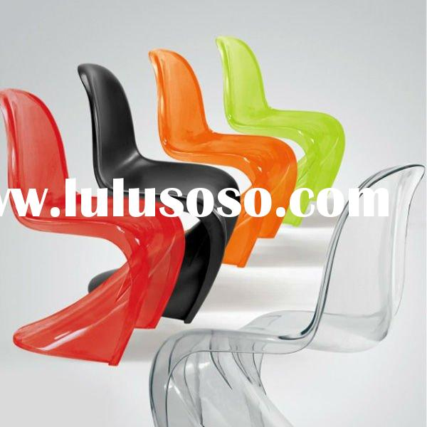 2012 Modern Outdoor Plastic Stacking Chair For Sale TDH 127APC