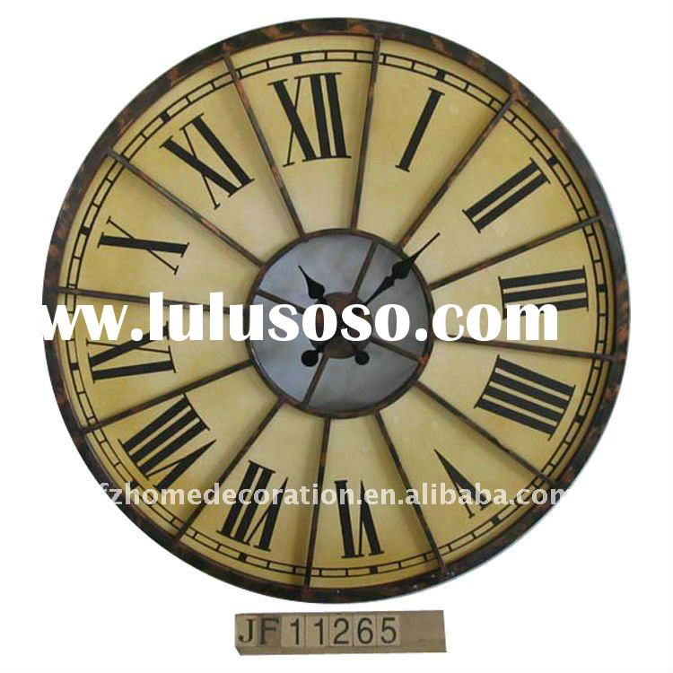 2012 new product antique decorative metal wall clock