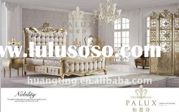 2012 newest french style white bedroom /classic luxury bedroom furniture/luxious elegant bedroom set
