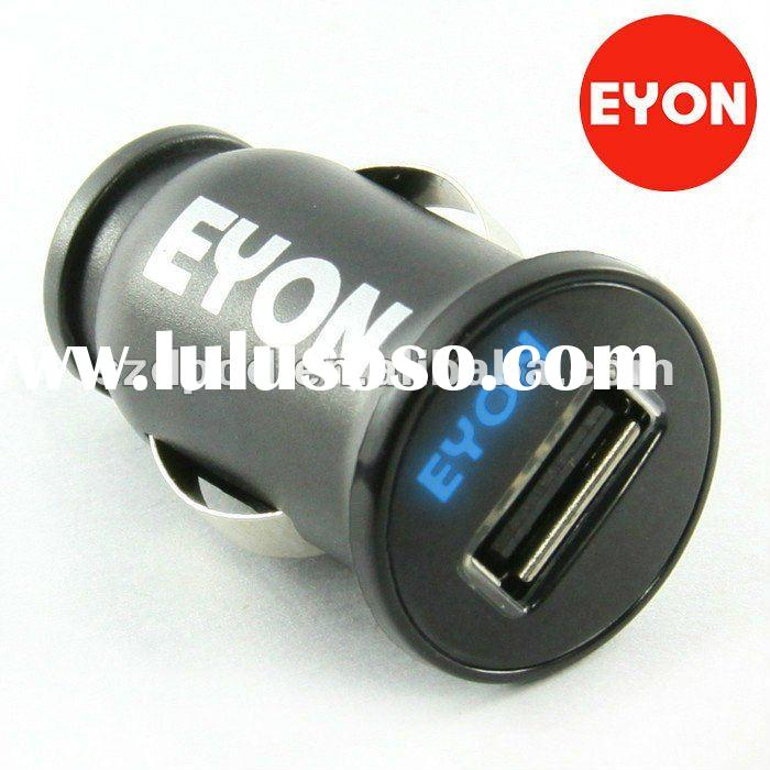 3100ma EYON brands Mini USB car charger adapter for Ipad/Iphone/ipod/mp3/mp4 etc(with Japanese Seiko