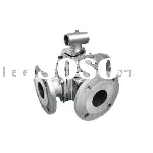 3way(L- port& T-port)ball valve ANSI 150LB/JIS 10K flange end