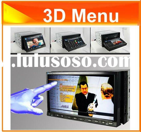 "7"" 2 Din HD Car DVD with GPS 3D Menu Blue tooth TV"