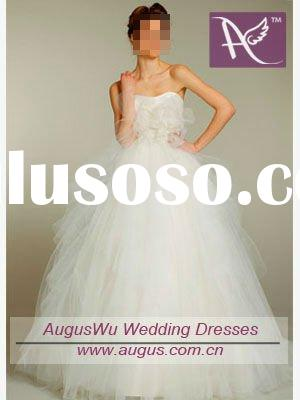 AWS-10201 Latest Design White Ball Gown Wedding Dress
