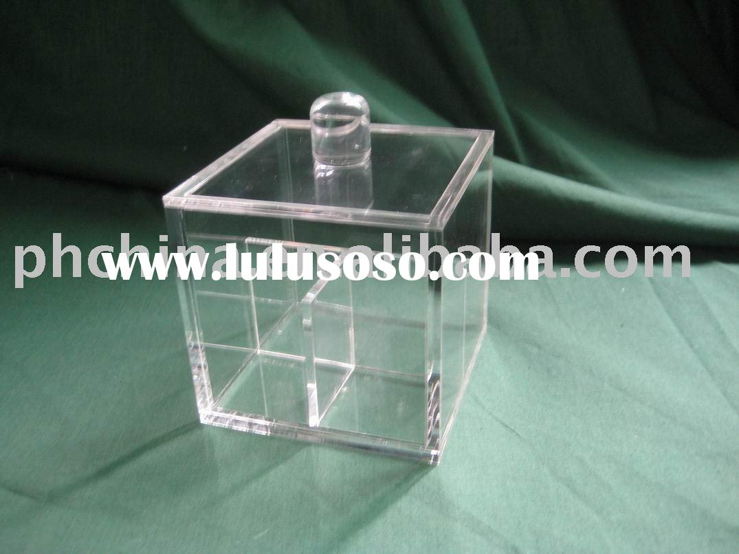 Acrylic Cotton Bud Organizer,Acrylic Cotton Ball Box,Acrylic Cotton Swab Canister