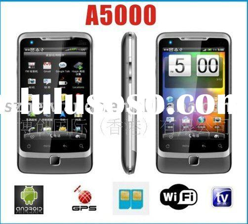 Android 2.2 Mobile Phone T-Start A5000 AGPS TV WIFI JAVA CAMERA 3.5Inch Screen Dual Sim Card Smart P