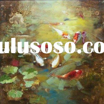 Animal oil painting Realist oil painting High quality painting Goldfish