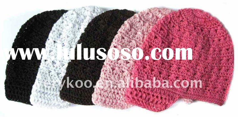 Baby Crochet Kufi Hats with a Daisy Flower FCK-118630440-E