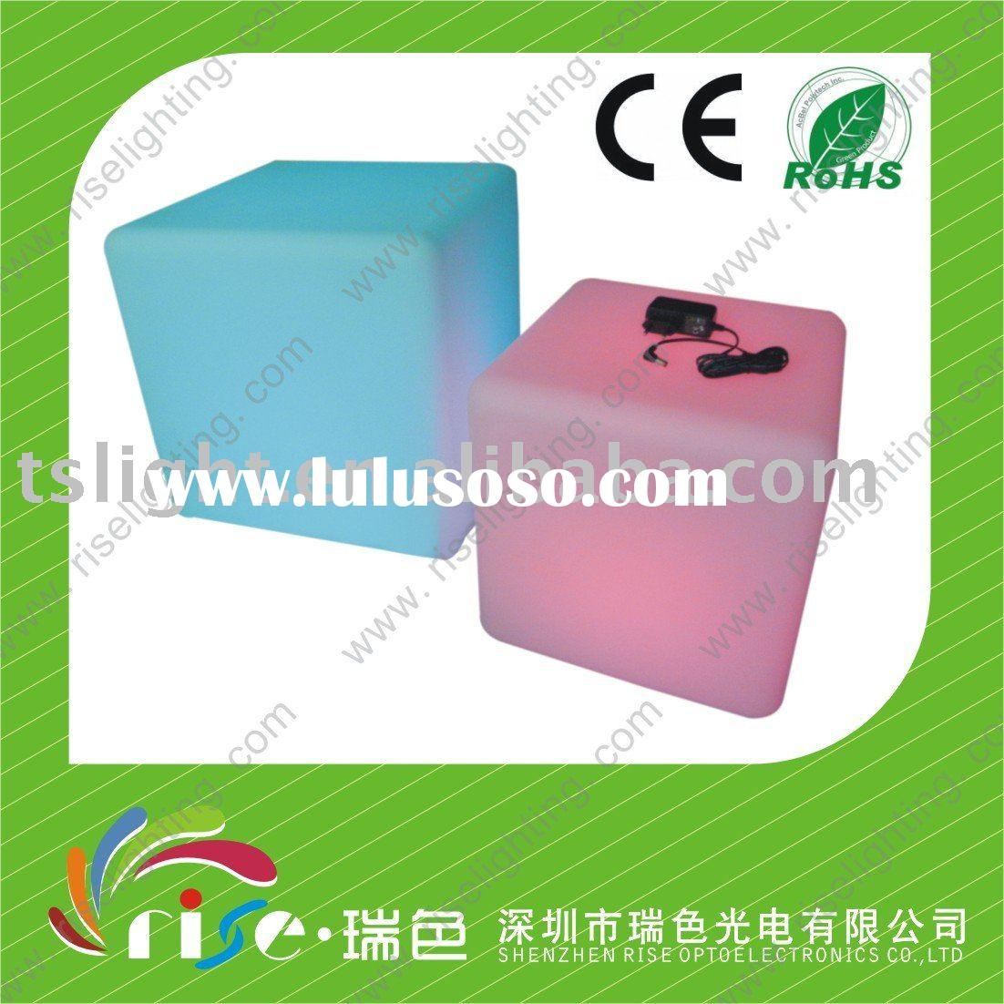 Battery operated light up LED cube