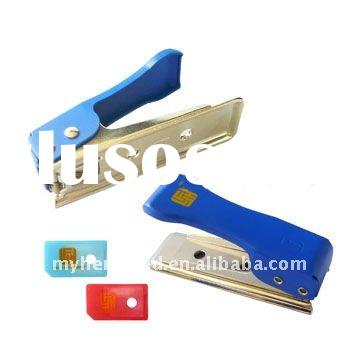 Blue Micro SIM Card Cutter Adapter for iPad& iPhone 4