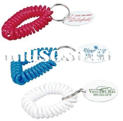 Bracelet coil keychain/Key chain/keyring/key ring/key fob/key holder/key tag