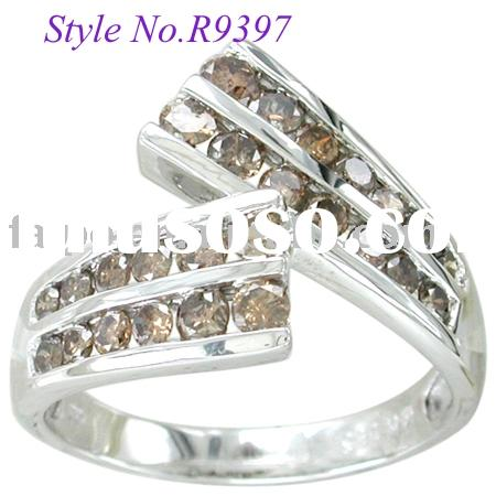 CHOCOLATE DIAMOND RING 10k/14k/18k yellow/white/pink gold ring