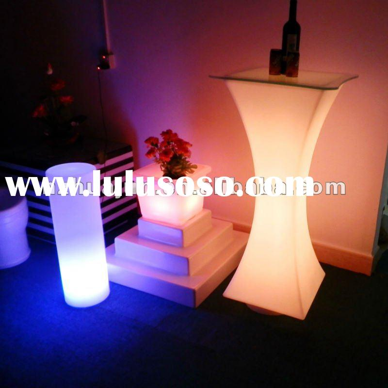 COMMERCIAL BAR DESIGN/LED BAR FURNITURE/BAR FURNITURE SET/LED TABLE WITH LIGHT/MODERN BAR COUNTER/LI