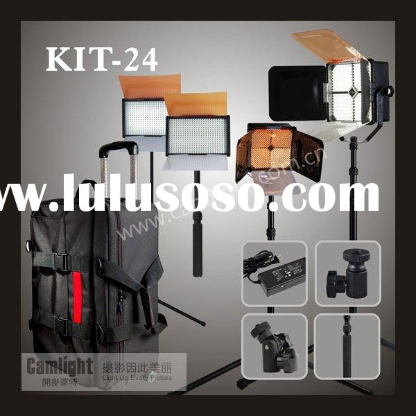 Camlight led video light kit 24 with light stand