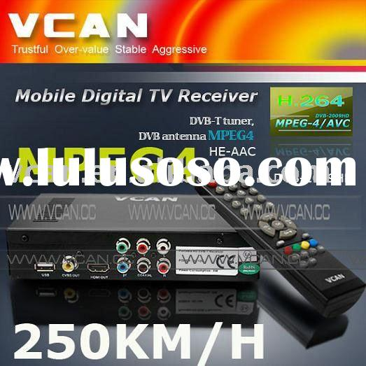 Car DVB-T TV Tuner MPEG4 high speed