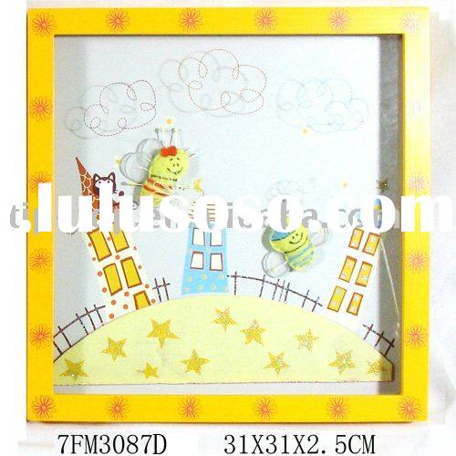 Children's Decorative Wooden Wall Picture(Bee Theme)