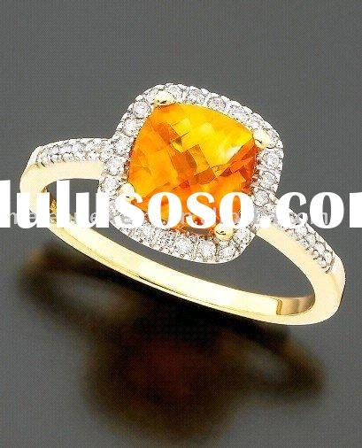 Citrine & Chocolate Diamond Oval Ring