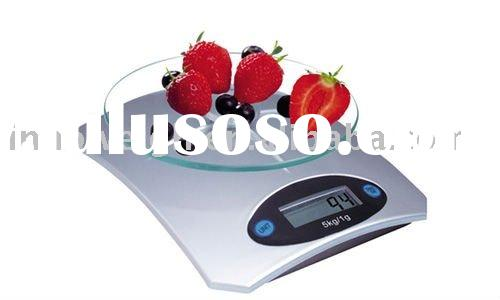 Digital Kitchen Scale with glass top