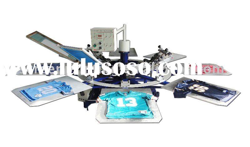 Direct t-shirt printing machine&8-color carousel semi-automatic screen printing machine&colo