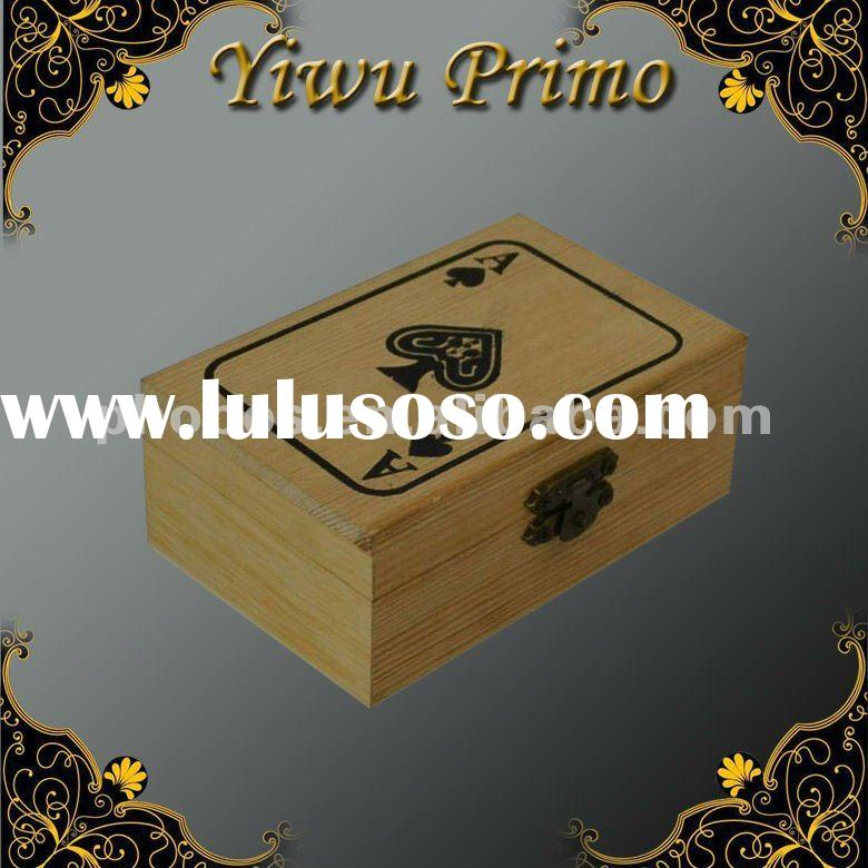 Fashion Wooden Playing Card Box with Lock