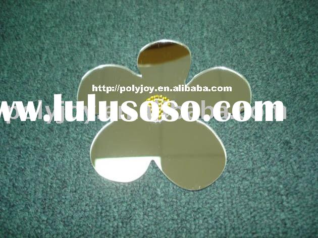 Flower shape mirror, wall mirror, sticky mirror, Shaped mirror, Acrylic Mirror, decorative mirror, p