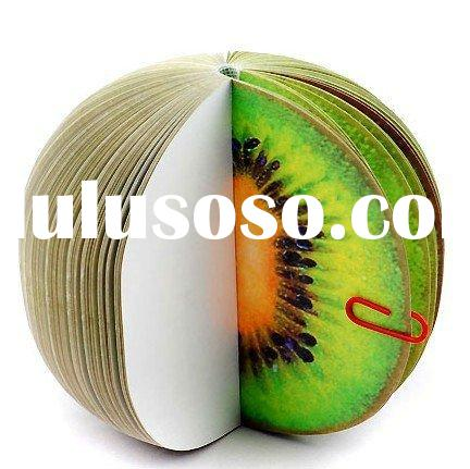 Fruit memo pad- Sticky notepad,memo note as promotional gift